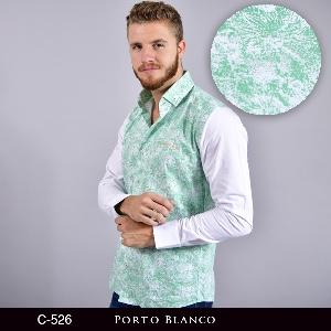 Camisa Porto Blanco Clasica Caballero C-526