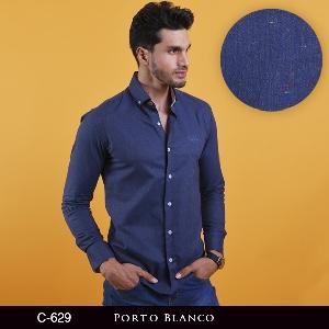 Camisa Porto Blanco Clasica Caballero C-629