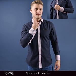 Camisa Porto Blanco Clasica Caballero C-453