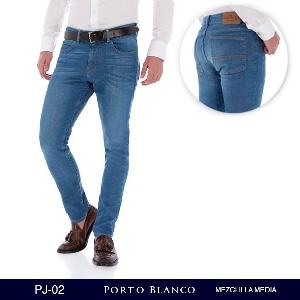 Pantalon Porto Blanco Mezclilla Media Caballero PJ-02