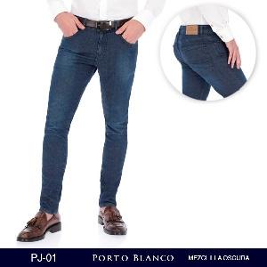 Pantalon Porto Blanco Mezclilla Oscura Caballero PJ-01