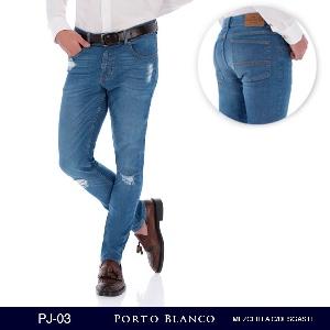 Pantalon Porto Blanco Mezclilla Clara Caballero PJ-03